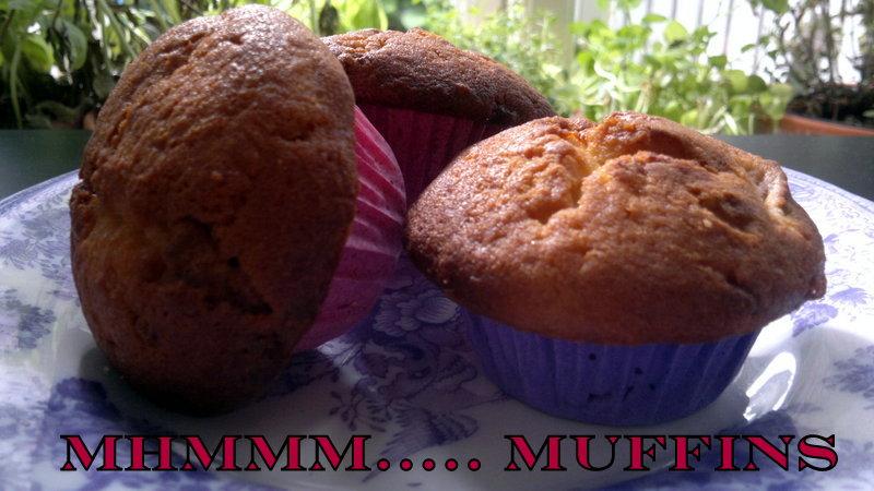 Muffins Med Rabarber Og Hvid Chokolade Copenhagen Food Stories